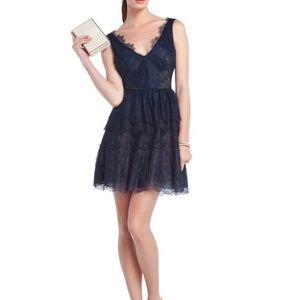 BCBG Max Azria Willa Lace Dress Navy Blue
